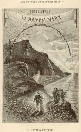 Page d'illustration du livre de Jules Verne, Le Rayon Vert, publiée chez J. Hetzel Éditeur