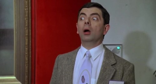 L'air surpris de Mister Bean