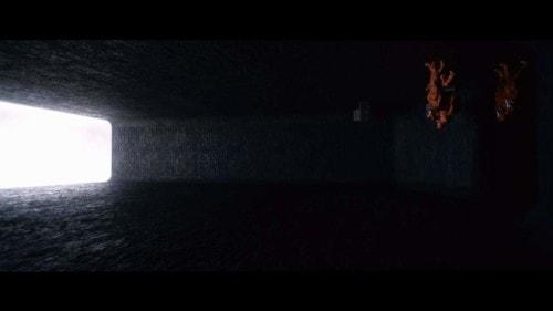 Un écran dans Premier Contact de Denis Villeneuve