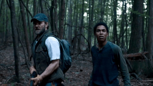 "Joel Edgerton et Kelvin Harrison Jr. dans ""It comes at Night"""