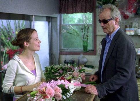 Bill Murray et les roses dans Broken Flowers