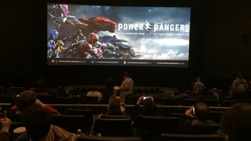Une séance de Power Ranger le film