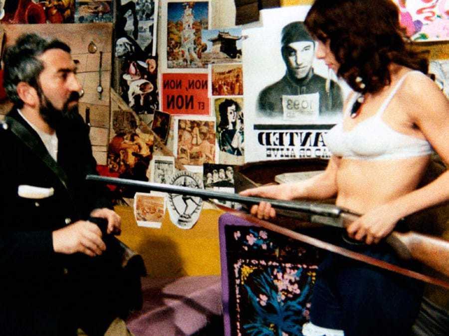 Bernadette Lafont et Georges Géret dans La Fiancée du Pirate