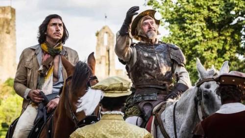 Adam Driver et Jonathan Pryce dans l'homme qui tua Don Quichotte par Diego Lopez Calvin