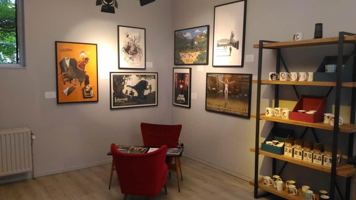 Le magasin Cinéfétiche à Bruxelles
