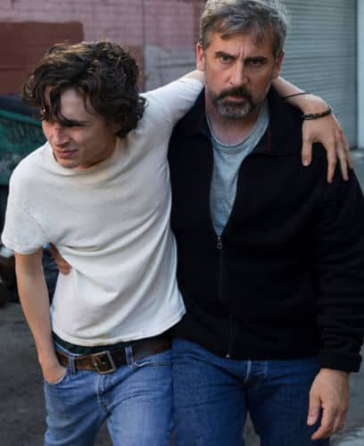 Steve Carell porte Timothée Chalamet dans Beautiful Boy