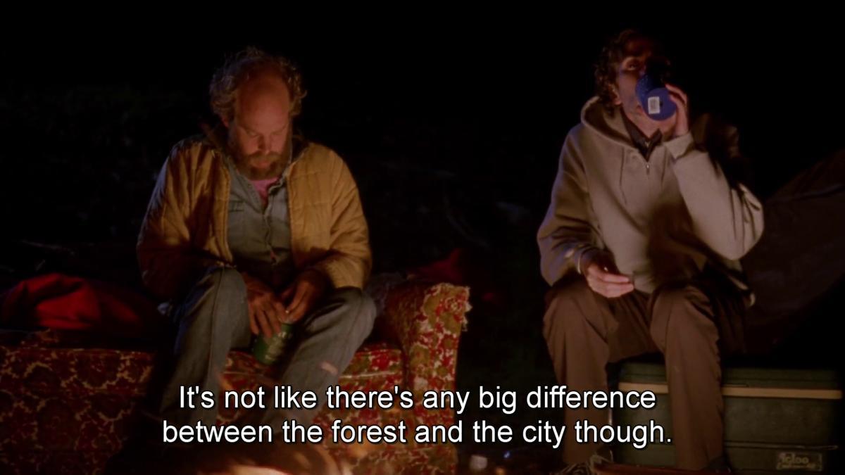 Discussion autour du feu dans Old Joy