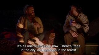 Seconde partie du discours autour du feu dans Old Joy