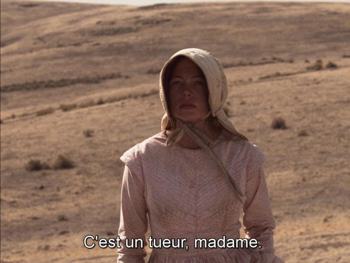 Emily Theterow interprétée par Michelle Williams dans La Dernière Piste