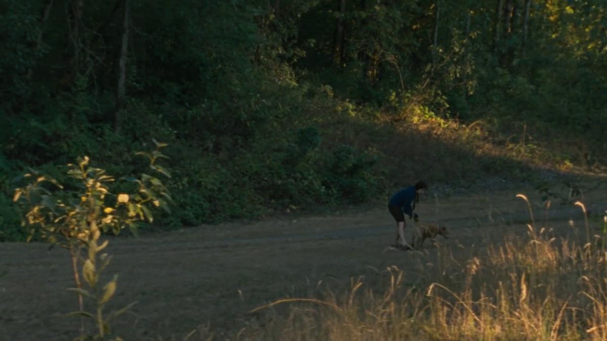 Wendy et son chien en forêt dans Wendy et lucy