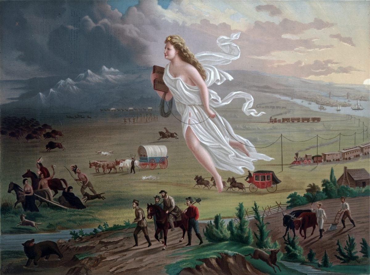 American Progress de John Gast, 1872