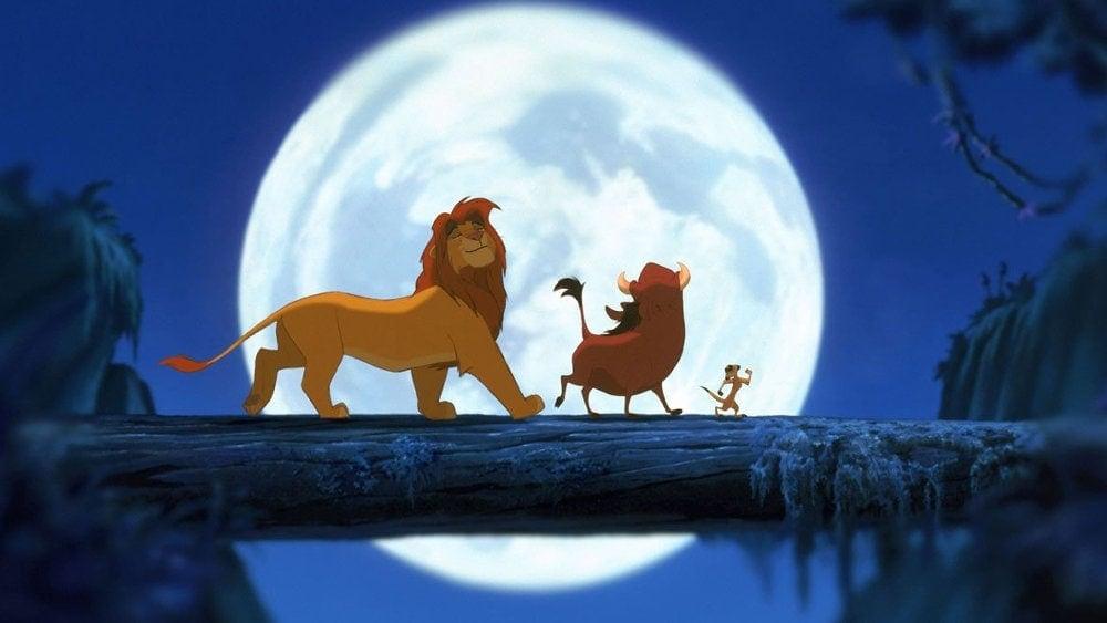 Simba, Timon et Pumba dans Le Roi Lion