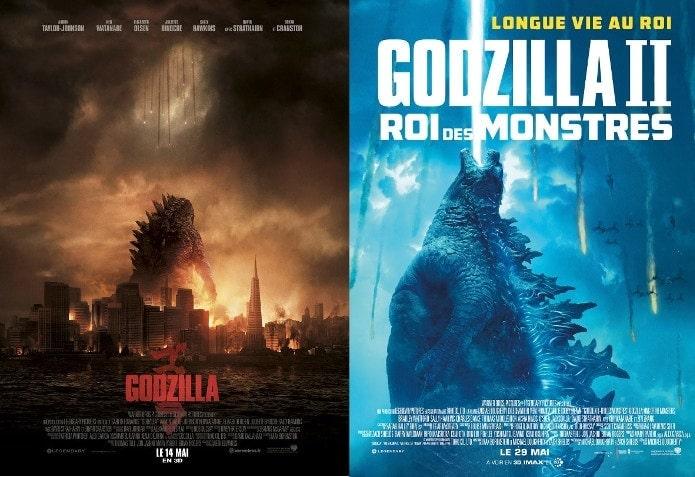 Les posters de Godzilla 1 et de Godzilla 2