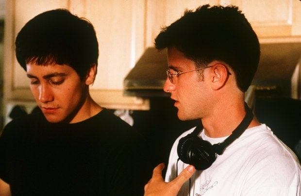 Richard Kelly et Jake Gyllenhaal sur le tournage de Donnie Darko