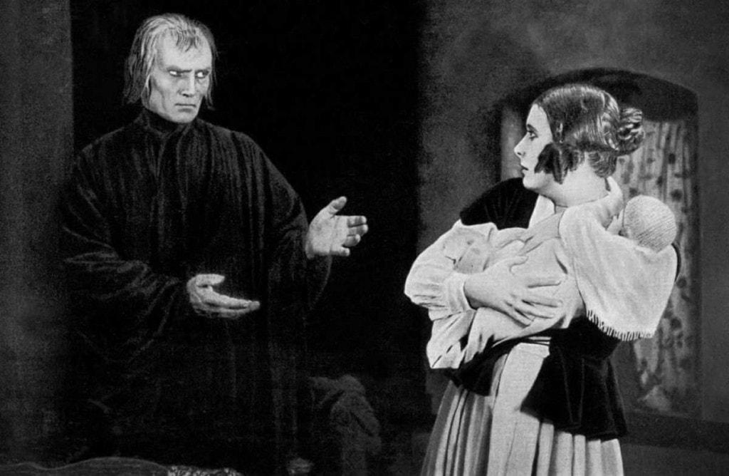 Bernhard Goetzke et Lil Dagover dans Les Trois lumières de Fritz Lang