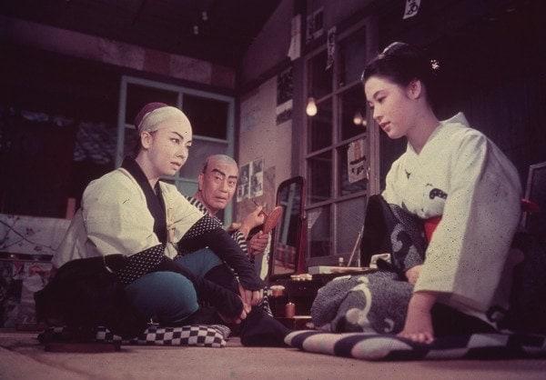 Une scène d'Herbes Flottantes d'Ozu
