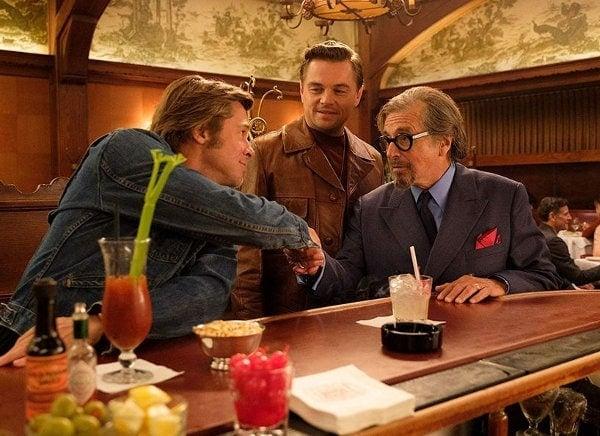 Leonardo DiCaprio, Al Pacino et Brad Pitt dans le film de Tarantino