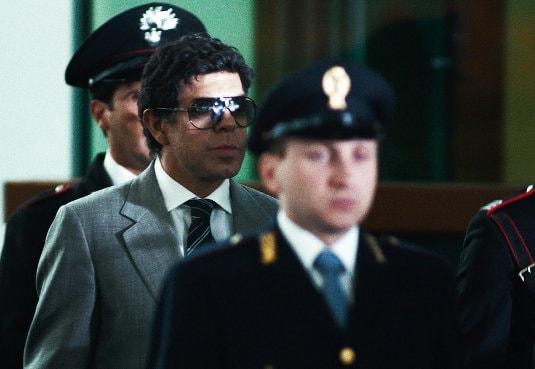 Pierfrancesco Favino durant le procès dans Le Traître