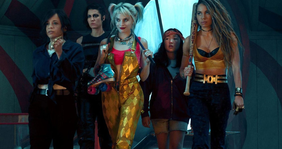Margot Robbie en Harley Quinn avec sa bande sèmant le chaos dans Birds of Prey