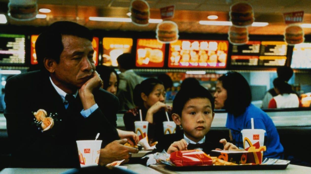 N.J. (Wu Nien-jen) et son fils Yang-Yang (Jonathan Chang) chez McDonald's dans Yi Yi