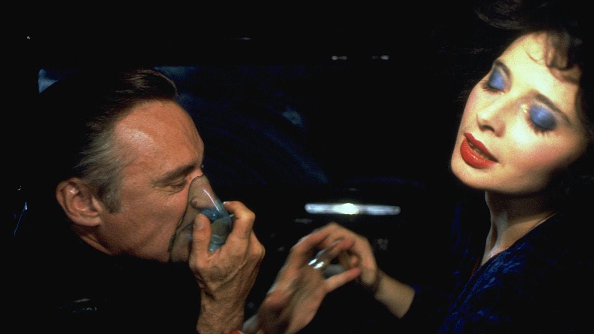 Isabella Rossellini et Dennis Hopper dans Blue Velvet