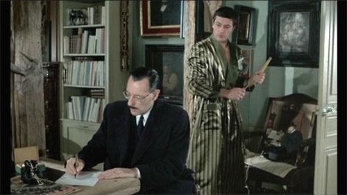 Jean Bouise et Alain Delon dans Monsieur Klein
