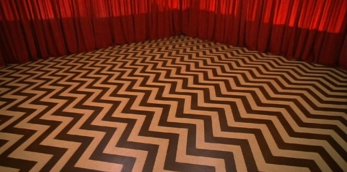Le sol rayé de la red room de Twin Peaks
