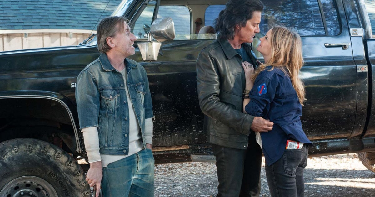 Jennifer Jason Leigh, Kyle MacLachlan et Tim Roth dans Twin Peaks : The Return (Saison 3)