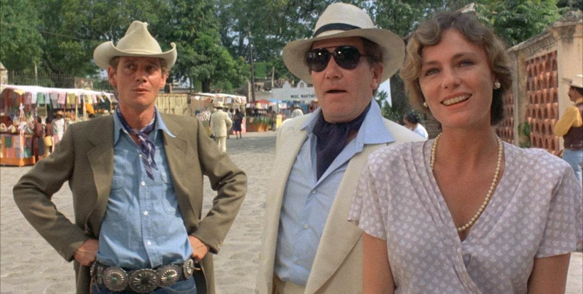 Albert Finney, Jacqueline Bisset et Anthony Andrewsdans Au-dessous du volcan