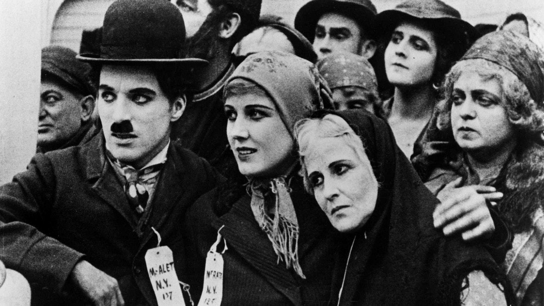 Charles Chaplin, L'Emigrant, 1917, le rêve de la Terre Promise.