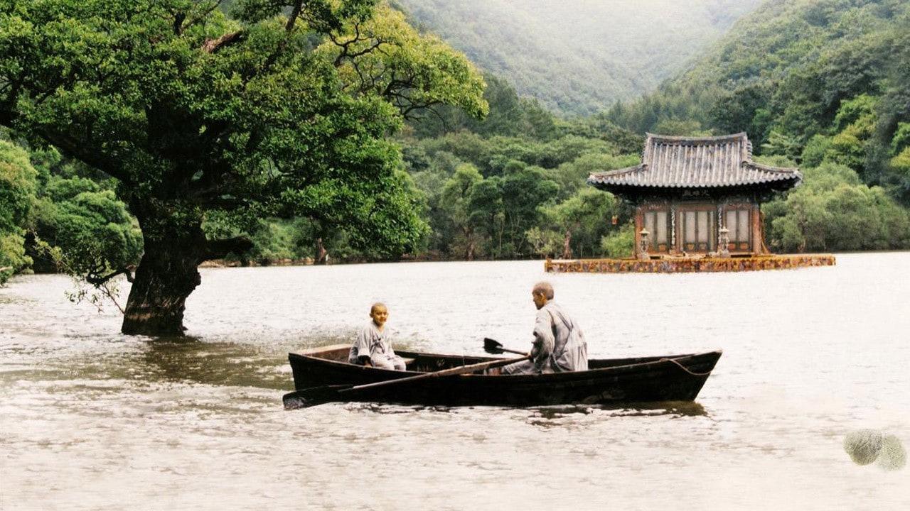 Les deux moines sur le lac dans Printemps, été, automne, hiver… et printemps