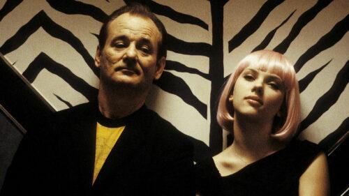 Bill Murray et Scarlett Johansson lors de leur virée nocturne dans Tokyo dans Lost in Translation