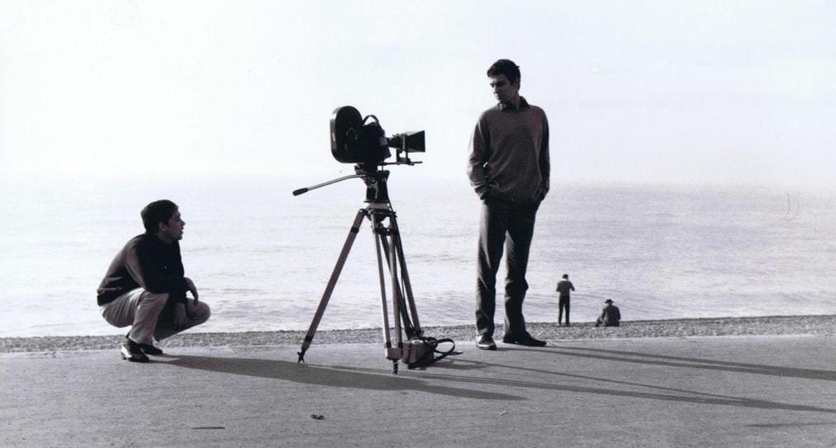 Guy Gilles sur le tournage de l'amour à la mer