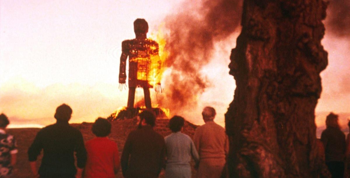 Le Dieu d'Osier en feu dans The Wicker Man