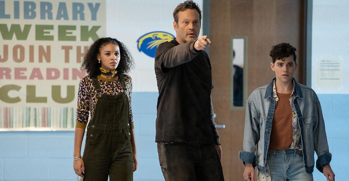 Nyla et Joshua aux côtés de Millie dans le corps de Vince Vaughn dans Freaky