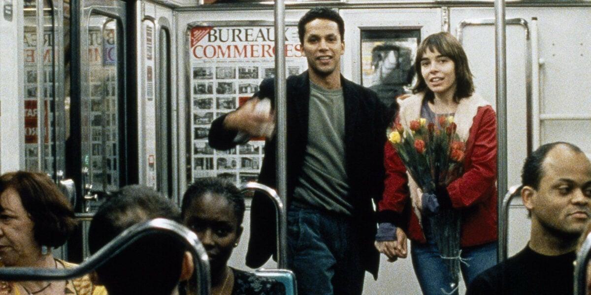 Jallel (Sami Bouajila) et Lucie (Elodie Bouchez) dans le métro dans La faute à Voltaire